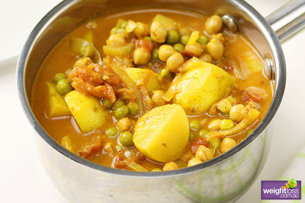 Chickpea Potato Curry  Potato Pea & Chickpea Curry