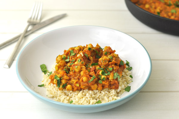 Chickpea Potato Curry  Chickpea & Sweet Potato Curry – A Touch of Zest