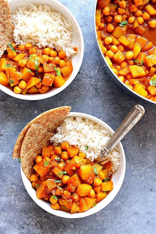Chickpea Potato Curry  Easy Chickpea and Potato Curry Recipe Chana Aloo