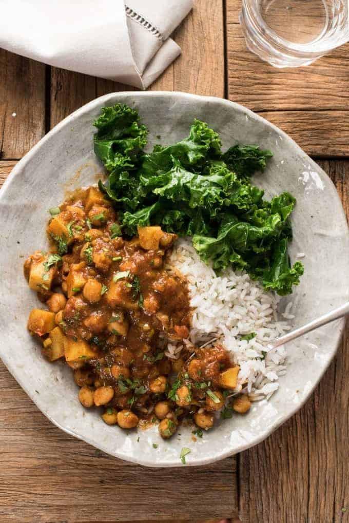 Chickpea Potato Curry  Easy Chickpea & Potato Curry Chana Aloo Curry