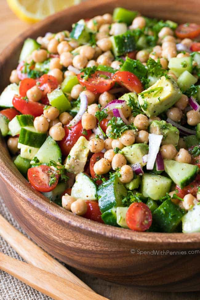 Chickpea Salad Recipes  Chickpea Salad Spend With Pennies