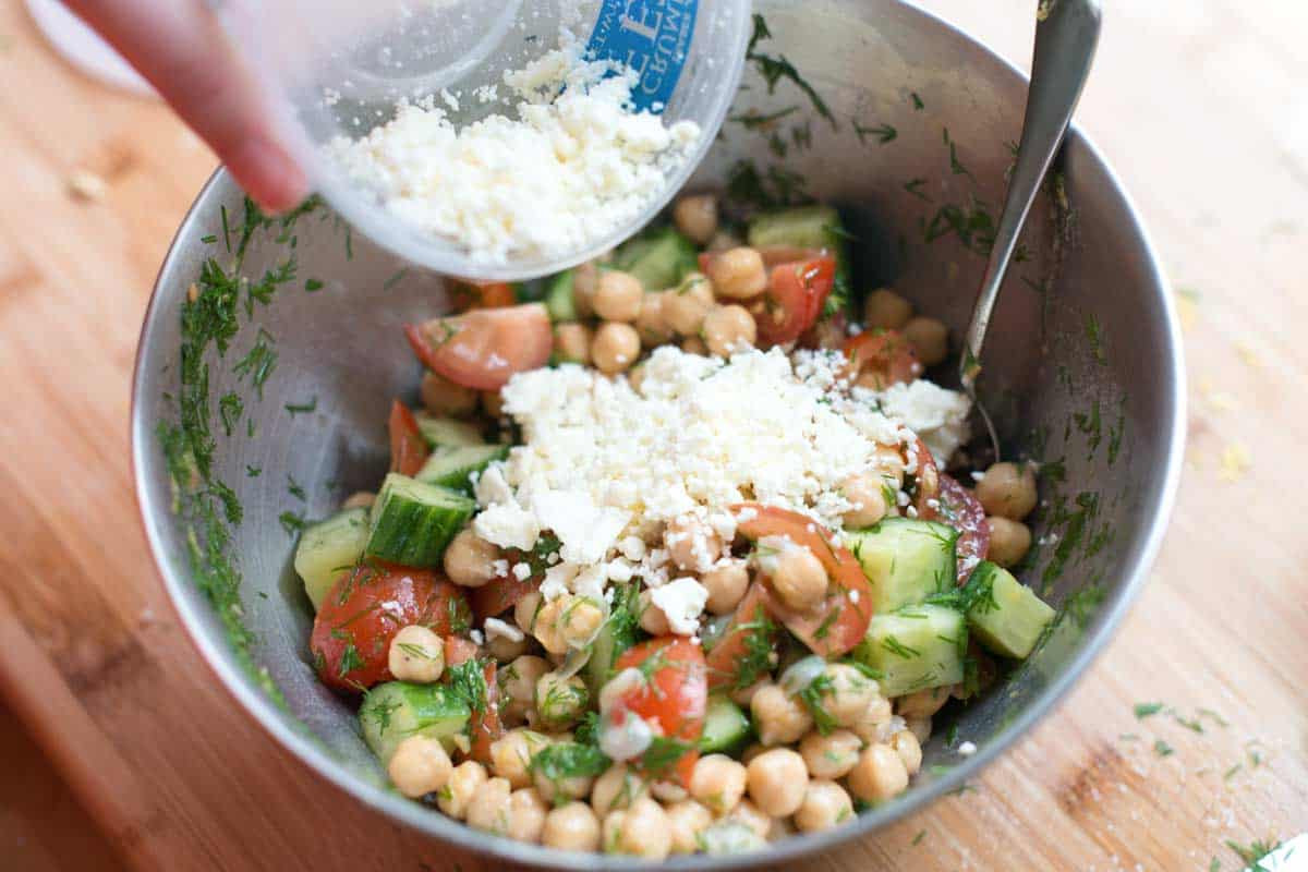Chickpea Salad Recipes  Easy Chickpea Salad Recipe with Lemon and Dill