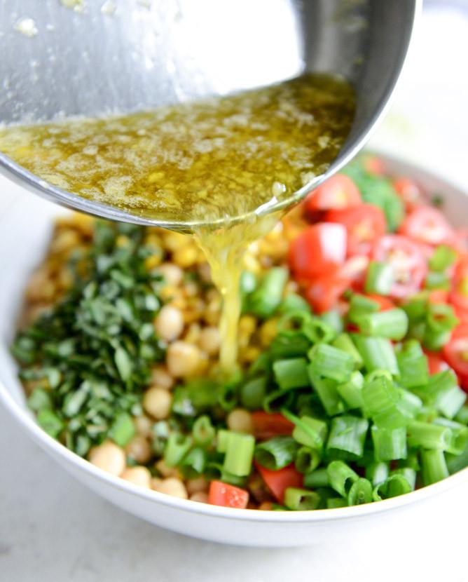 Chickpea Salad Recipes  Summer Chickpea Salad with Honey Garlic Lime Vinaigrette