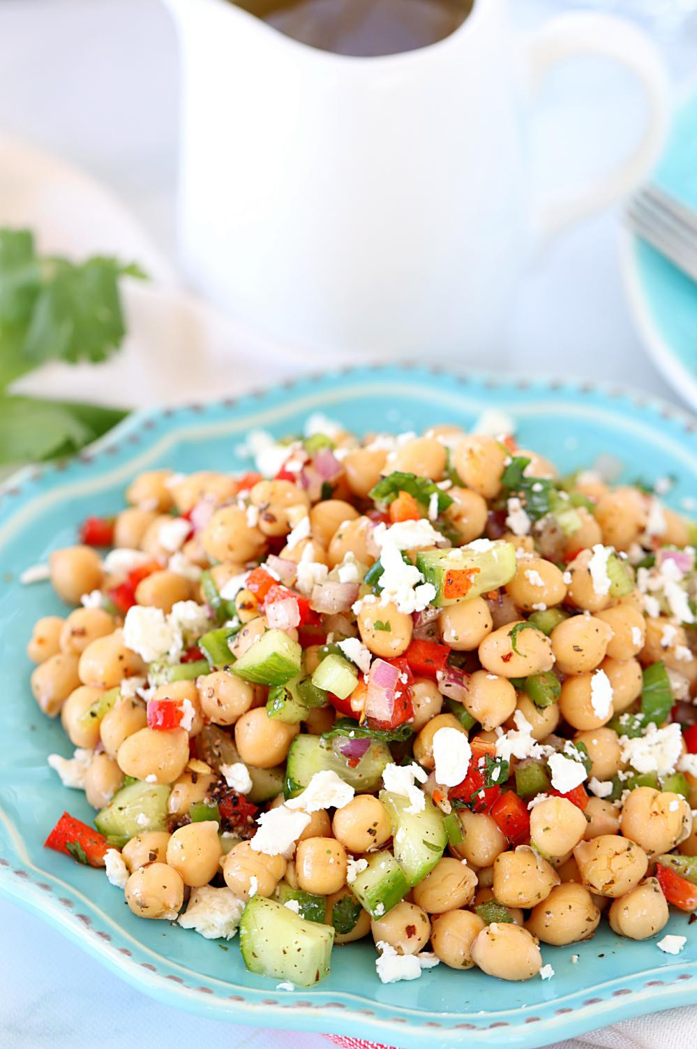 Chickpea Salad Recipes  Chana Salad or Chickpea Salad Easy no cook summer