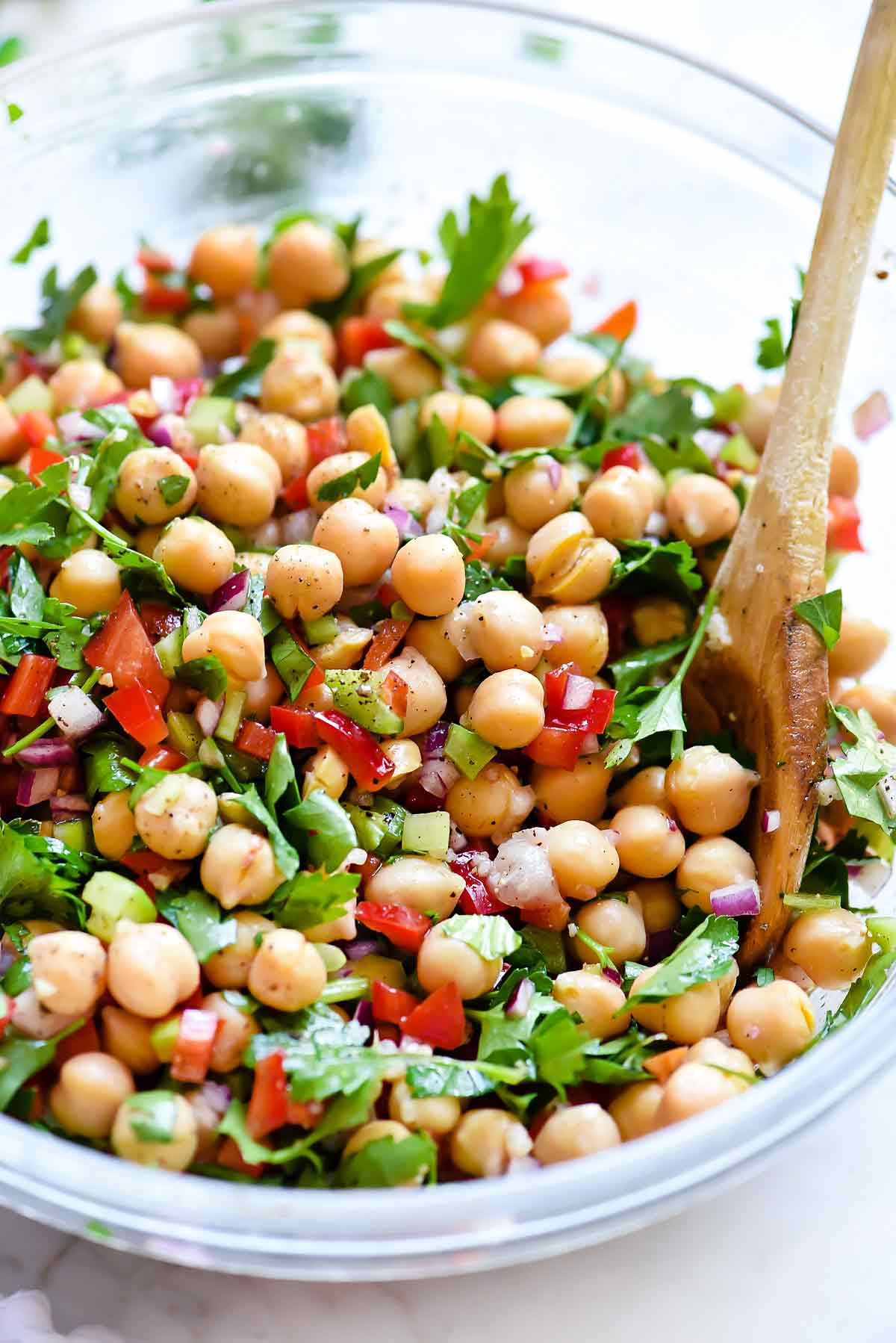 Chickpea Salad Recipes  Outrageous Herbacious Mediterranean Chickpea Salad
