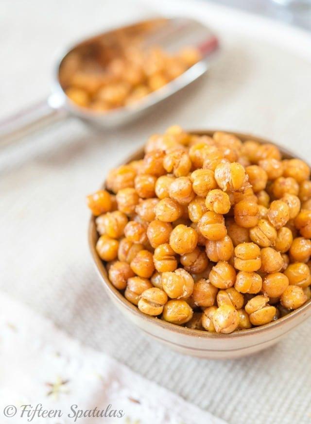 Chickpea Snacks Recipes  Crispy Oven Roasted Chickpeas – Fifteen Spatulas
