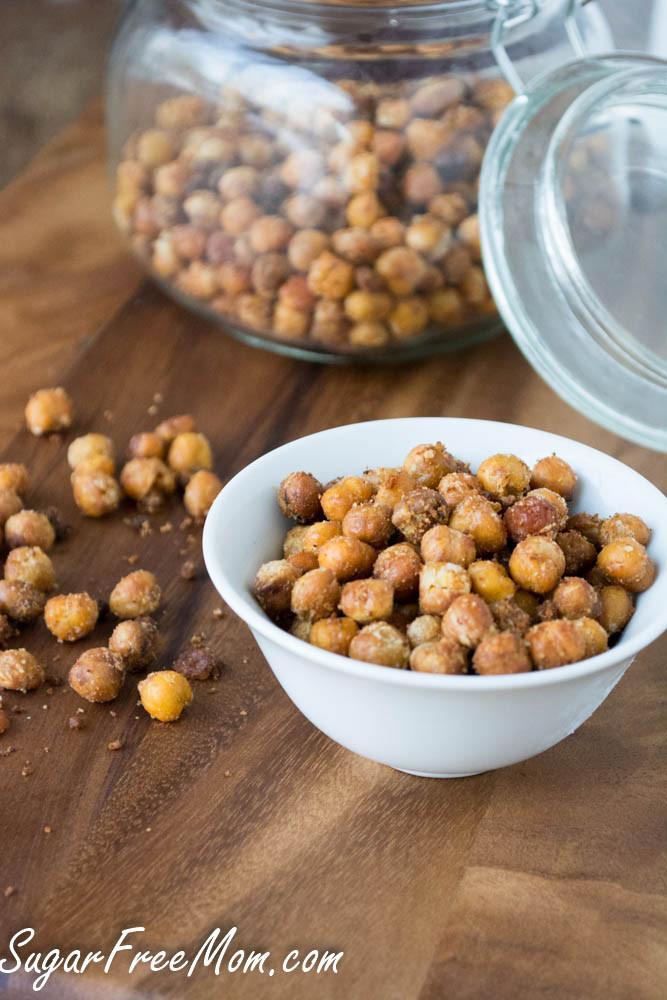 Chickpea Snacks Recipes  Garlic Parmesan Roasted Chickpea Snack Recipe