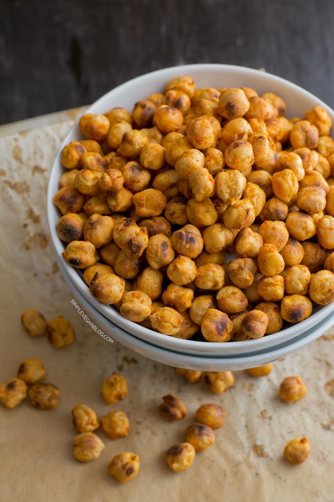 Chickpea Snacks Recipes  Roasted Chickpea Snack Recipe — Dishmaps