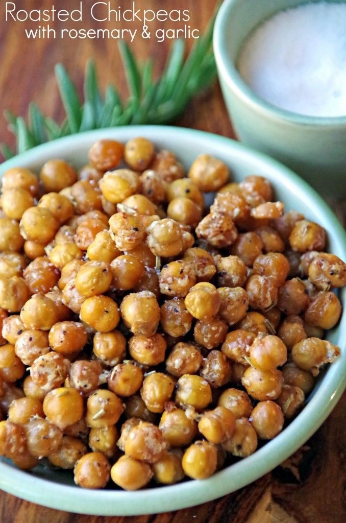 Chickpea Snacks Recipes  Spicy Roasted Chickpeas Snack Recipe with Rosemary and