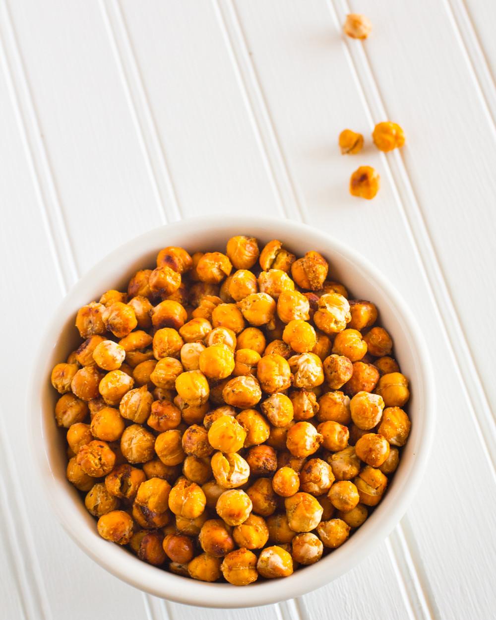 Chickpea Snacks Recipes  Crispy Roasted Chickpeas Snack Recipe