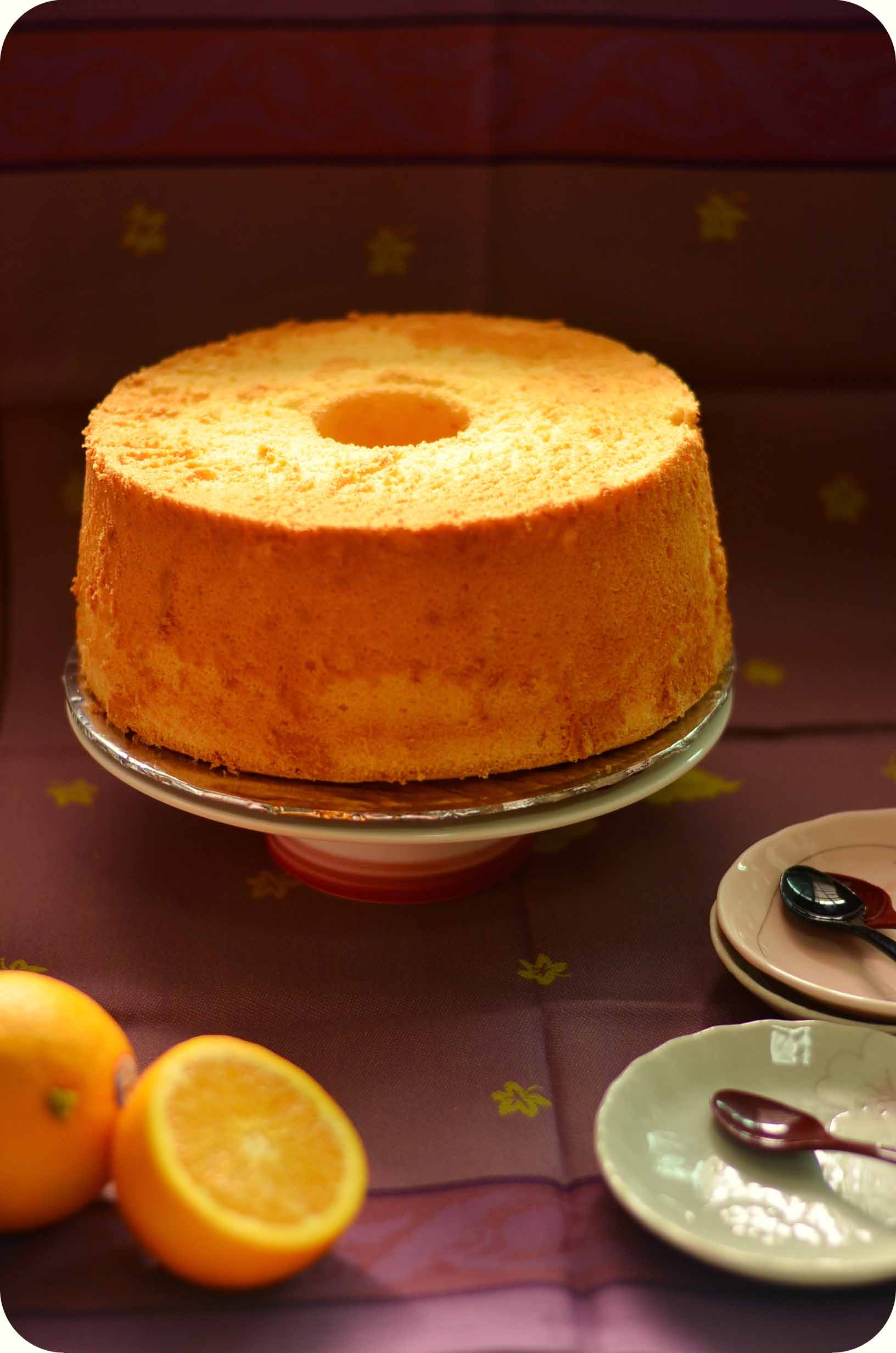 Chiffon Cake Recipe  Orange chiffon cake