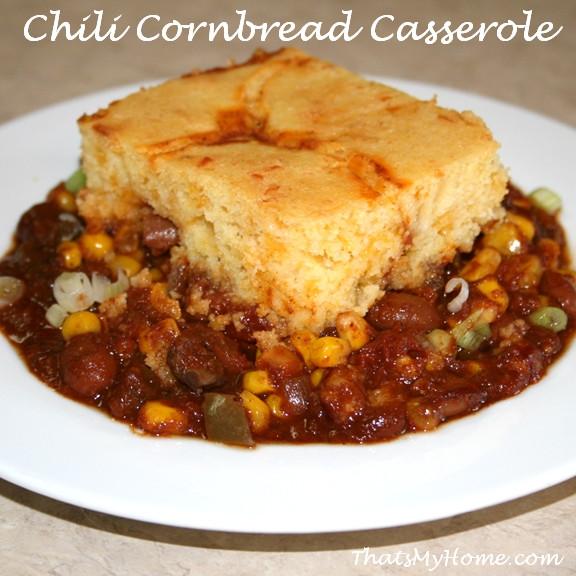 Chili Cornbread Bake  Chili and Cornbread Casserole Recipes Food and Cooking