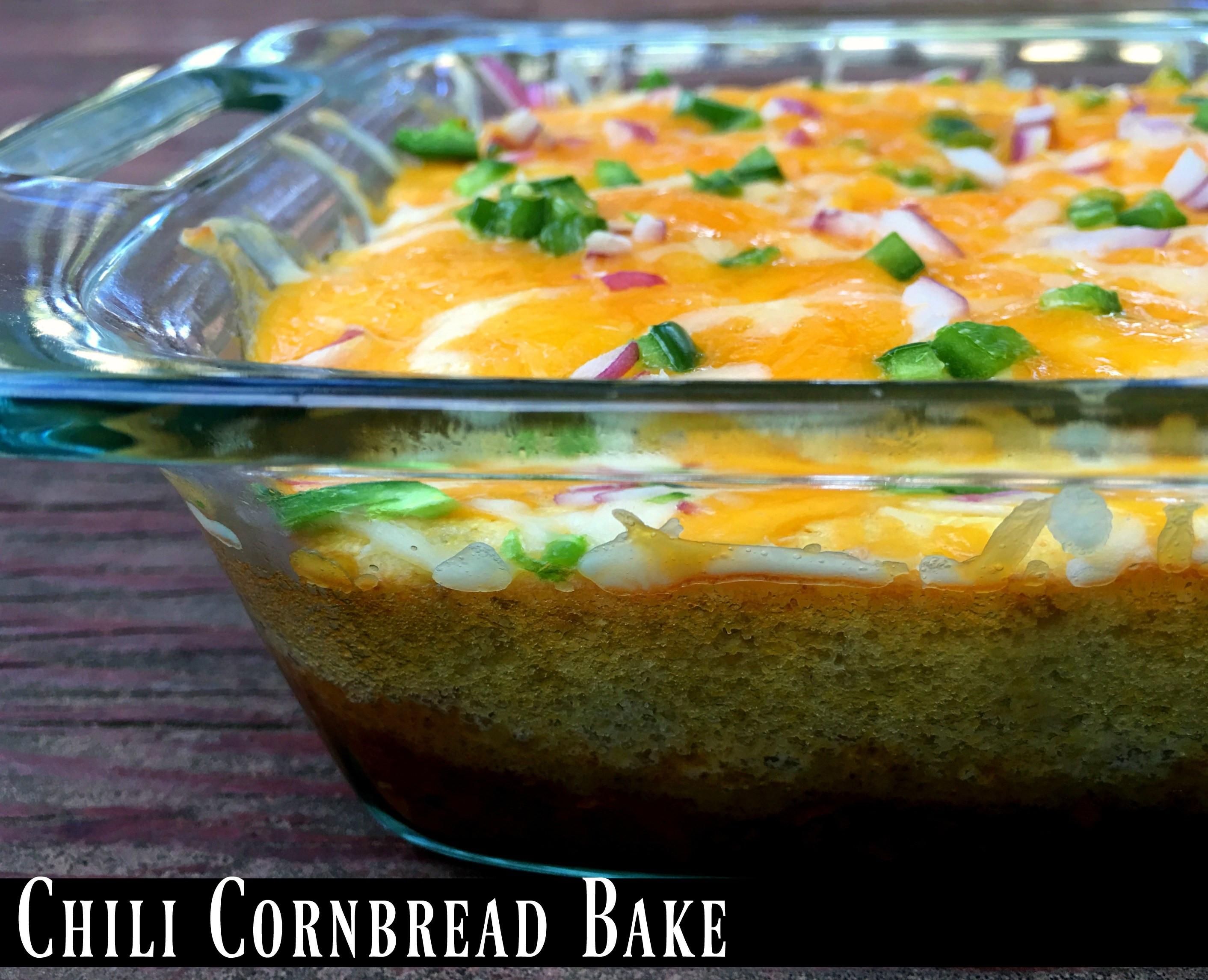 Chili Cornbread Bake  Leftover Chili Cornbread Bake Aunt Bee s Recipes