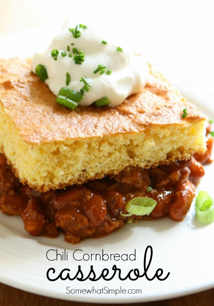Chili Cornbread Casserole  Chili Cornbread Casserole Somewhat Simple