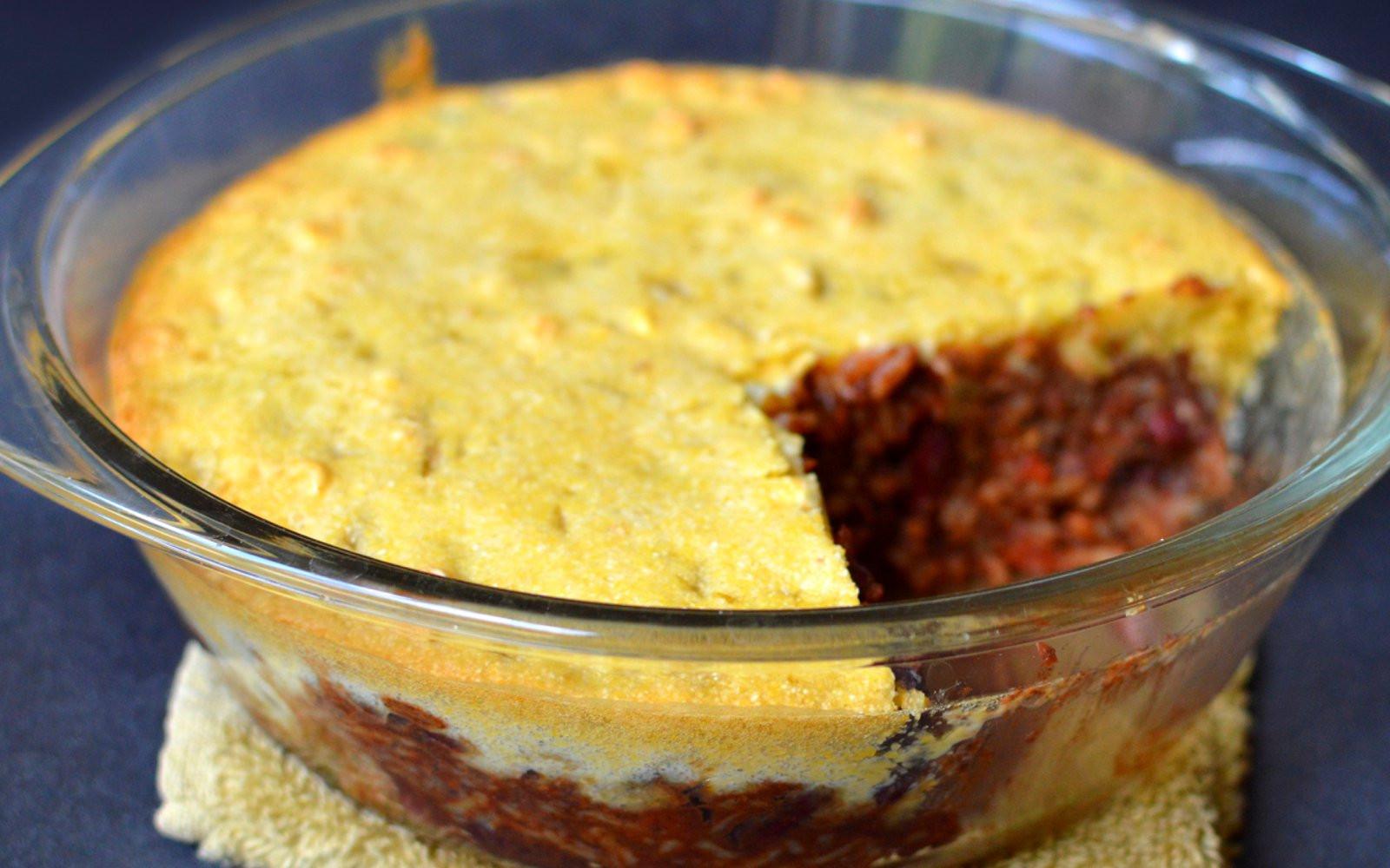 Chili Cornbread Casserole  Chili Cornbread Casserole [Vegan] e Green Planet e