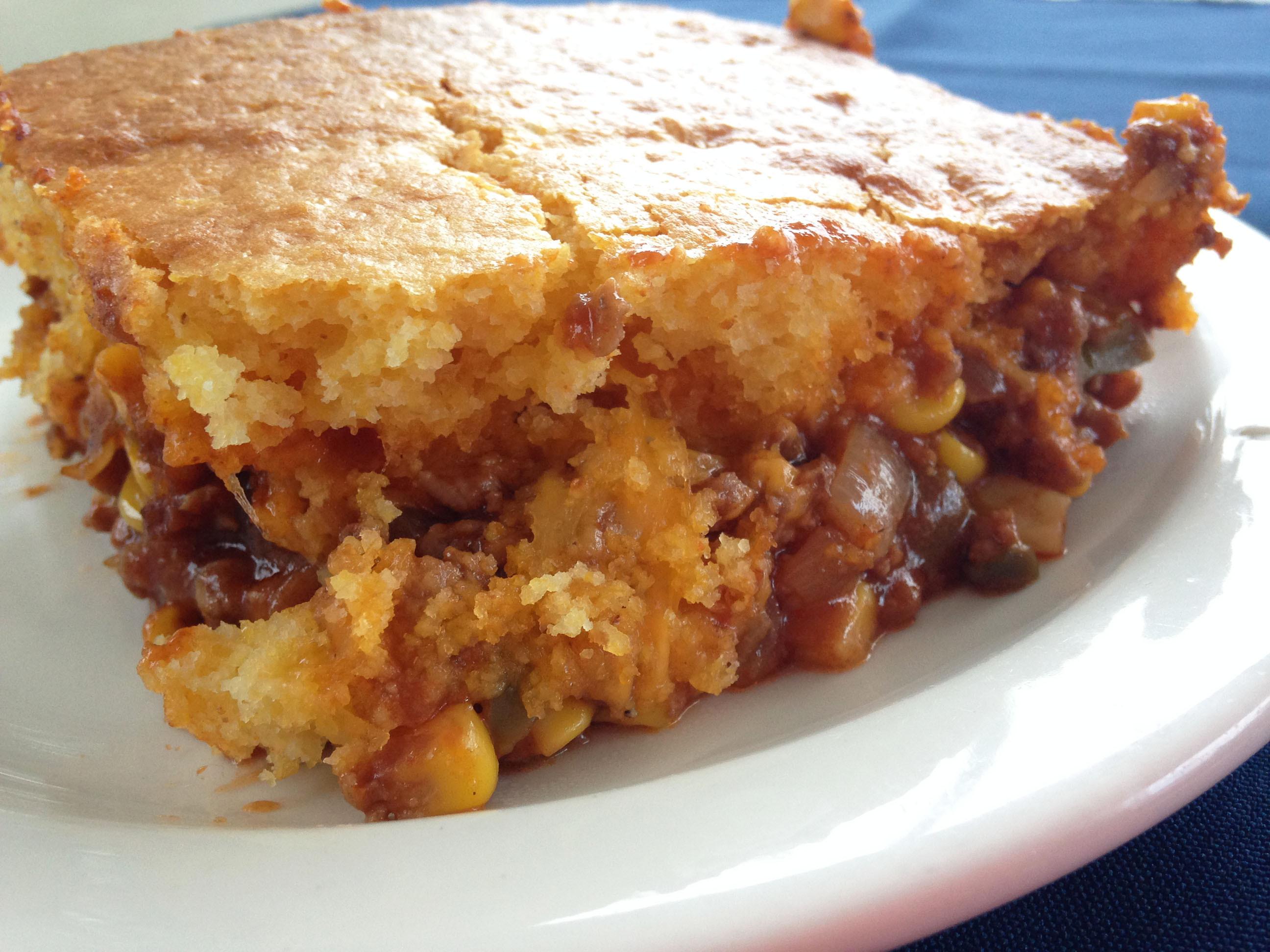 Chili Cornbread Casserole  Mexican chili cornbread casserole recipe
