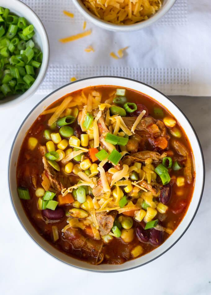 Chili Recipe Turkey  leftover taco meat soup