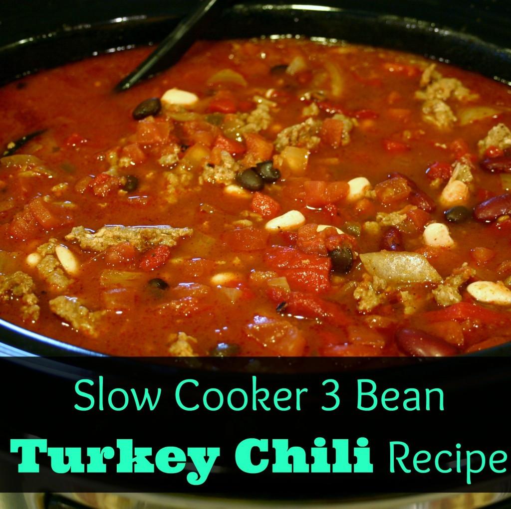Chili Recipe Turkey  Easy & Healthy Dinner Three Bean Turkey Chili Recipe