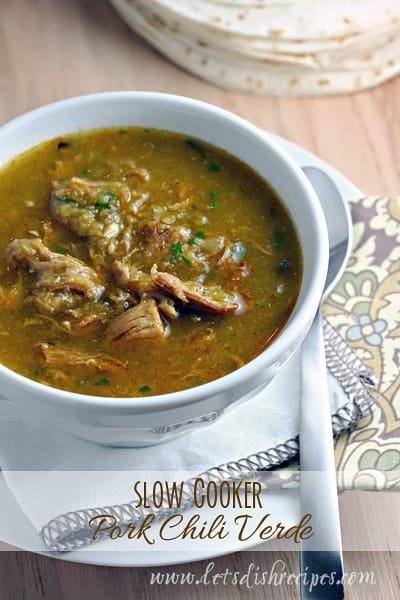 Chili Verde Pork  Slow Cooker Pork Chili Verde — Let s Dish Recipes