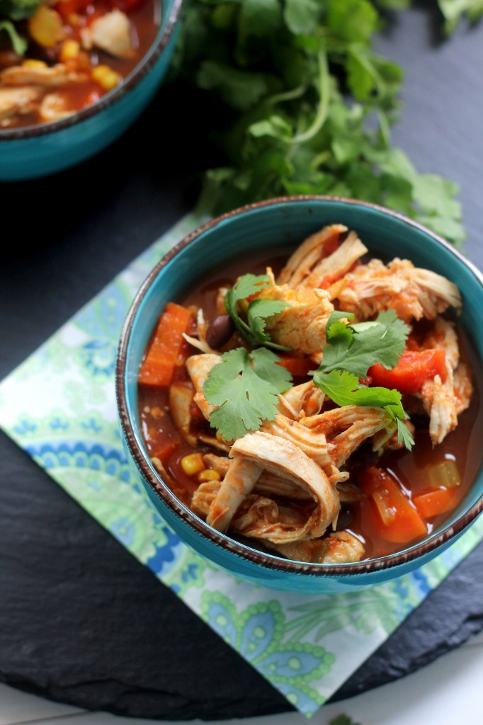 Chili'S Southwest Chicken Soup  Southwest Chicken Ve able Soup Gather for Bread