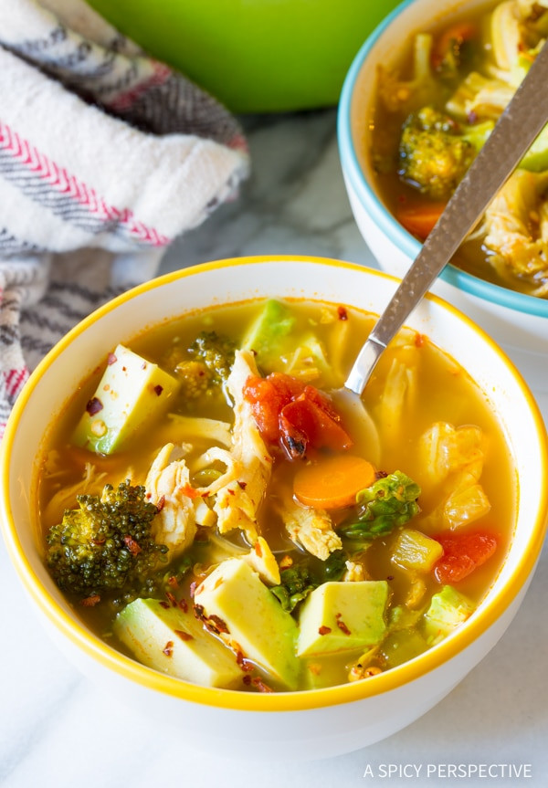 Chili'S Southwest Chicken Soup  Southwest Chicken Detox Soup A Spicy Perspective