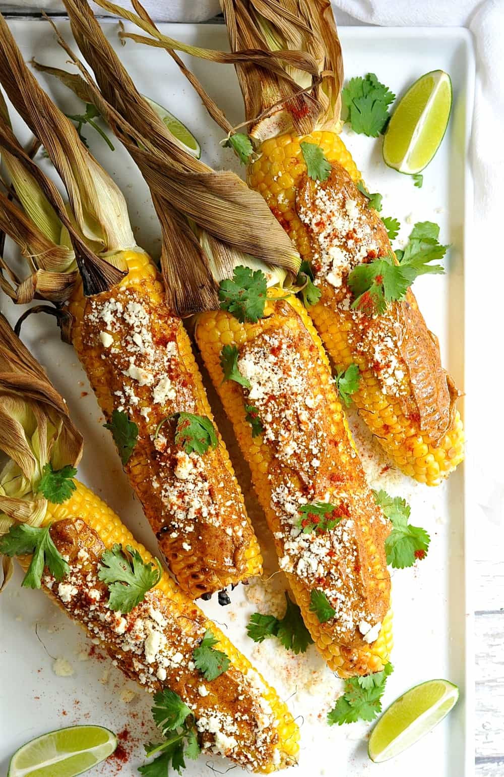 Chilis Roasted Street Corn  Mexican Corn on the Cob Pinch and Swirl