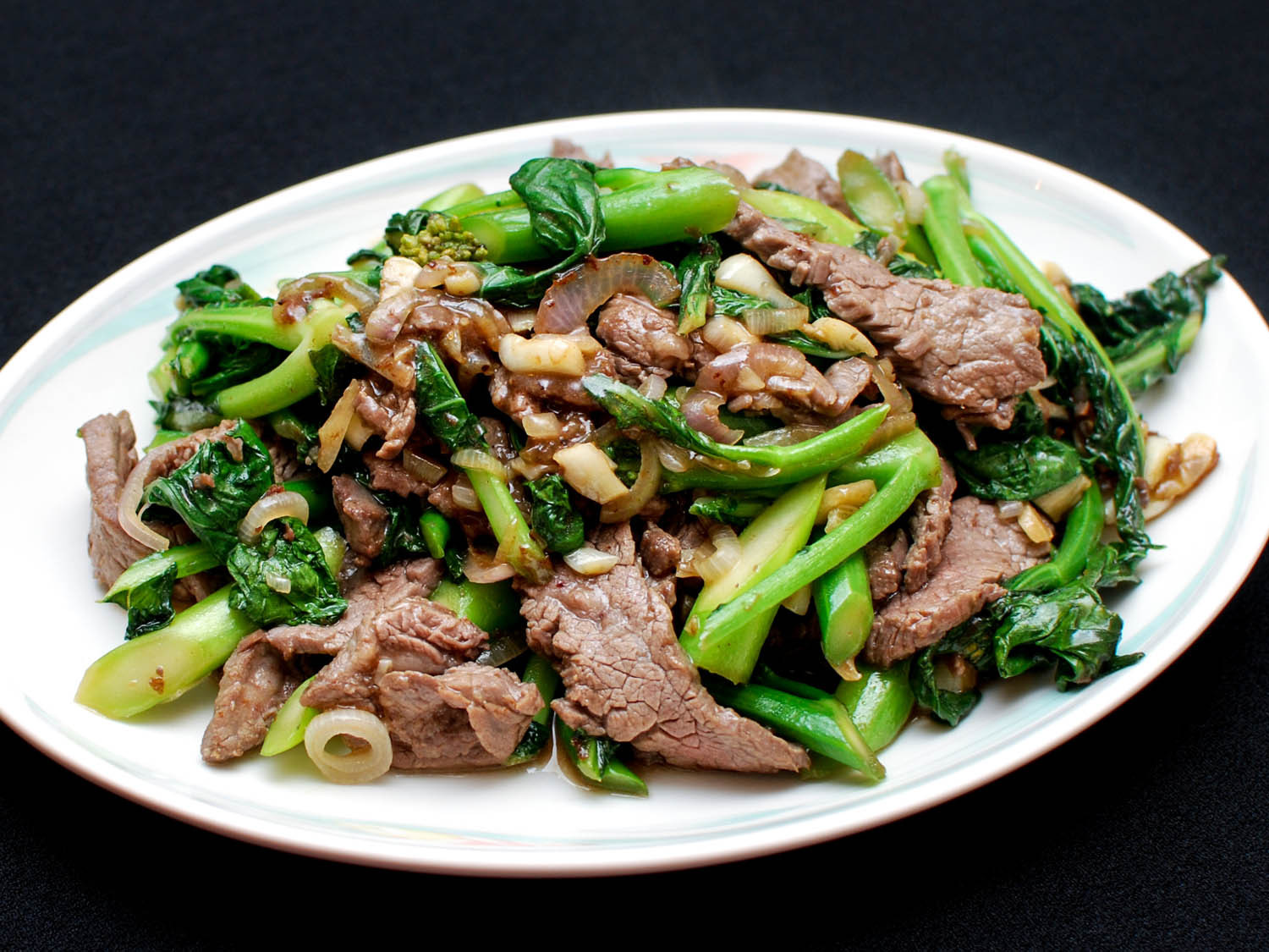 Chinese Beef And Broccoli  Stir Fried Beef With Chinese Broccoli Recipe