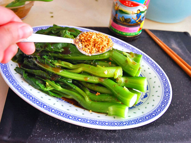 Chinese Broccoli Recipe  Chinese Broccoli With Oyster Sauce and Fried Garlic Recipe