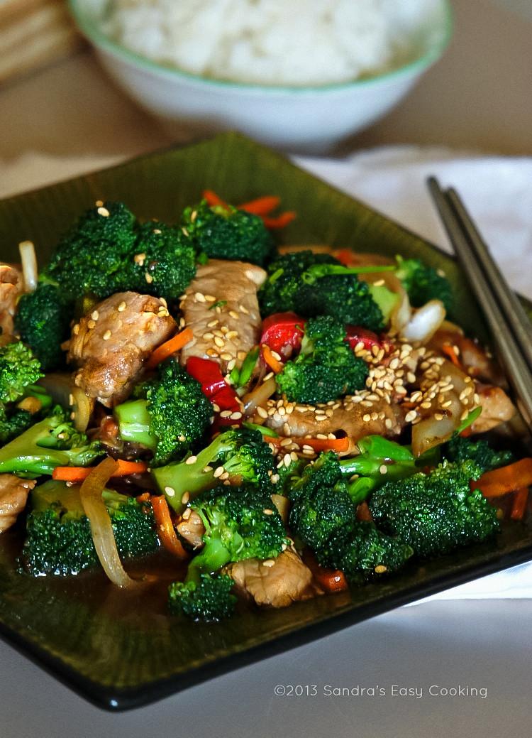 Chinese Broccoli Recipe  Chinese Broccoli and Pork Tenderloin Stir Fry SANDRA S