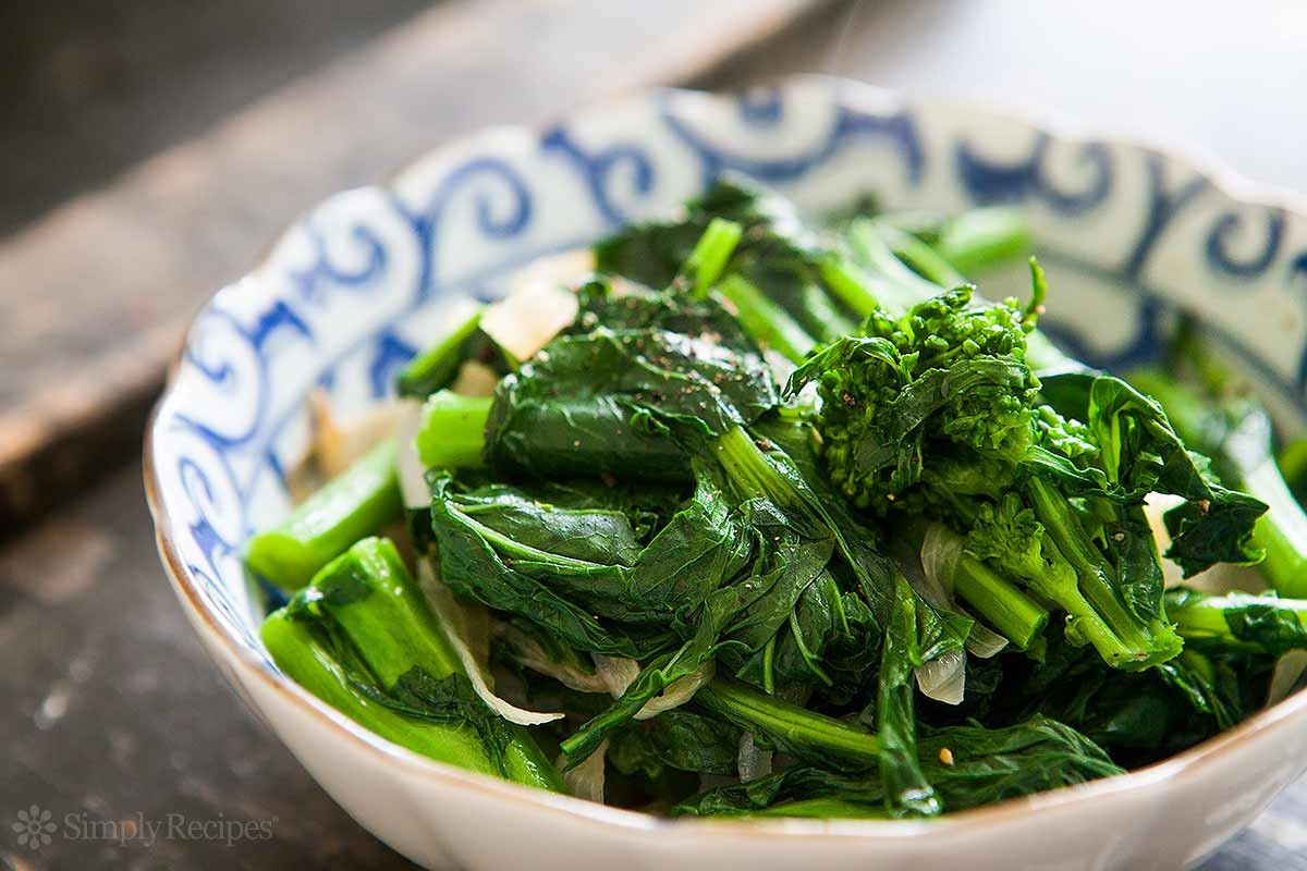 Chinese Broccoli Recipe  Broccoli Rabe with Caramelized ions Recipe