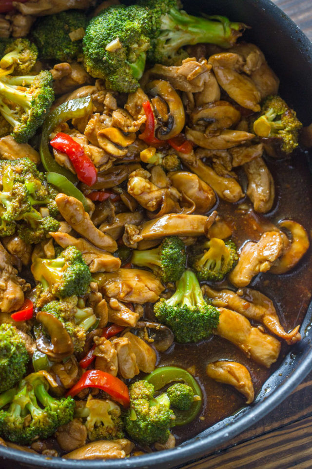 Chinese Chicken And Broccoli Recipe  20 Minute Chicken Broccoli & Mushroom Stir Fry
