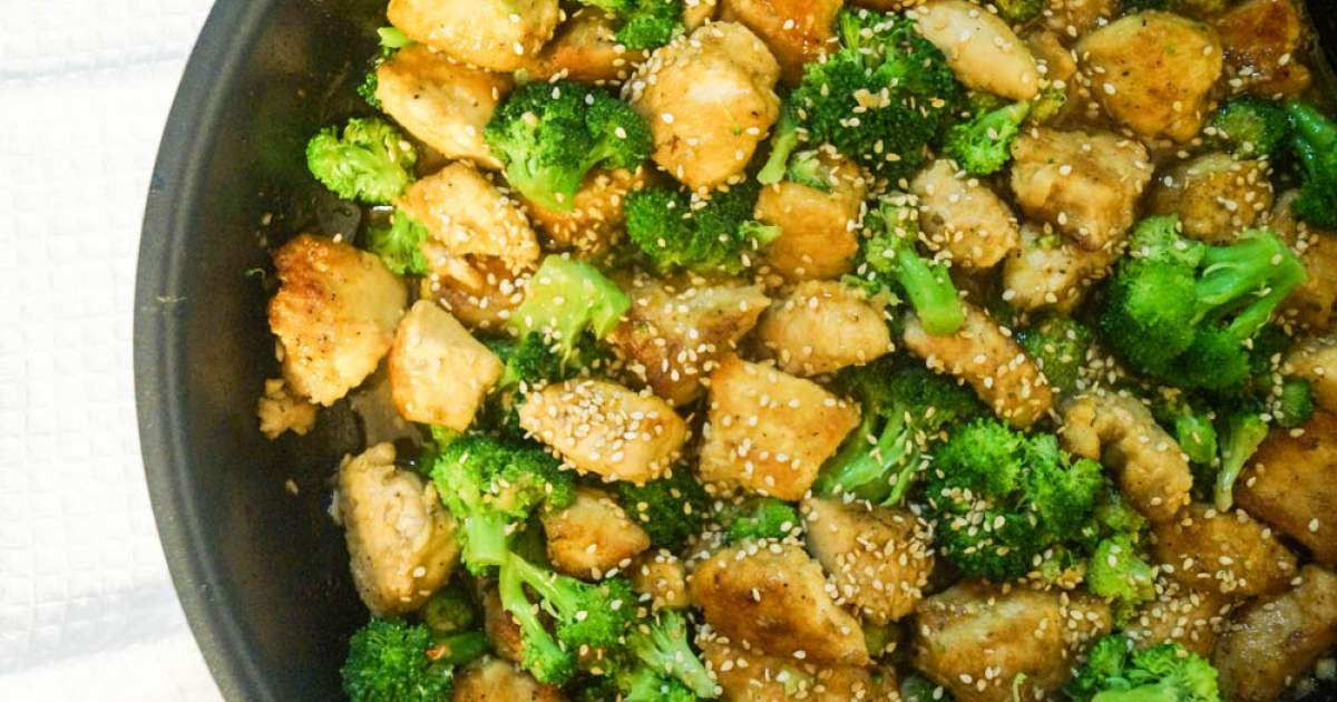Chinese Chicken And Broccoli Recipe  Low Carb Sesame Chicken and Broccoli Slender Kitchen
