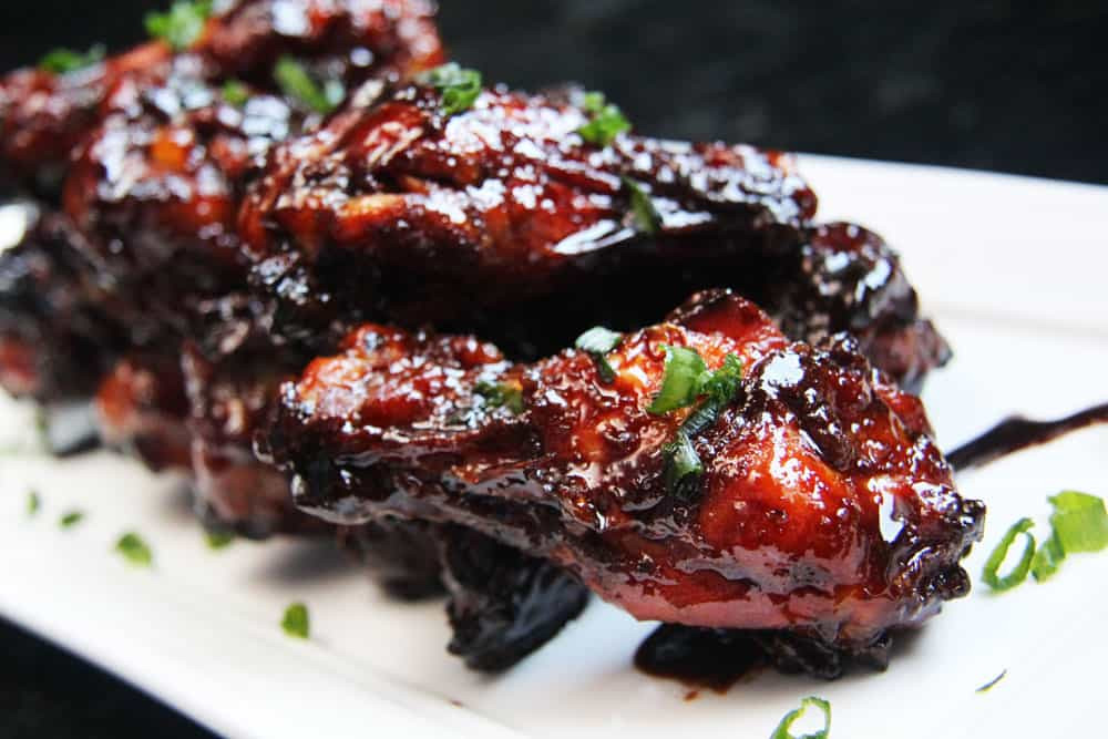 Chinese Chicken Wings  Chinese Wings with Soy Balsamic Glaze
