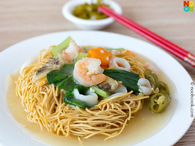 Chinese Crispy Noodles  Seafood Crispy Noodles