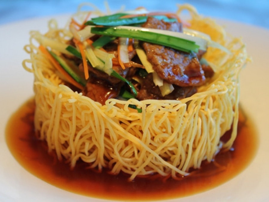 Chinese Crispy Noodles  Exclusive First Look Hakkasan Summer Menu