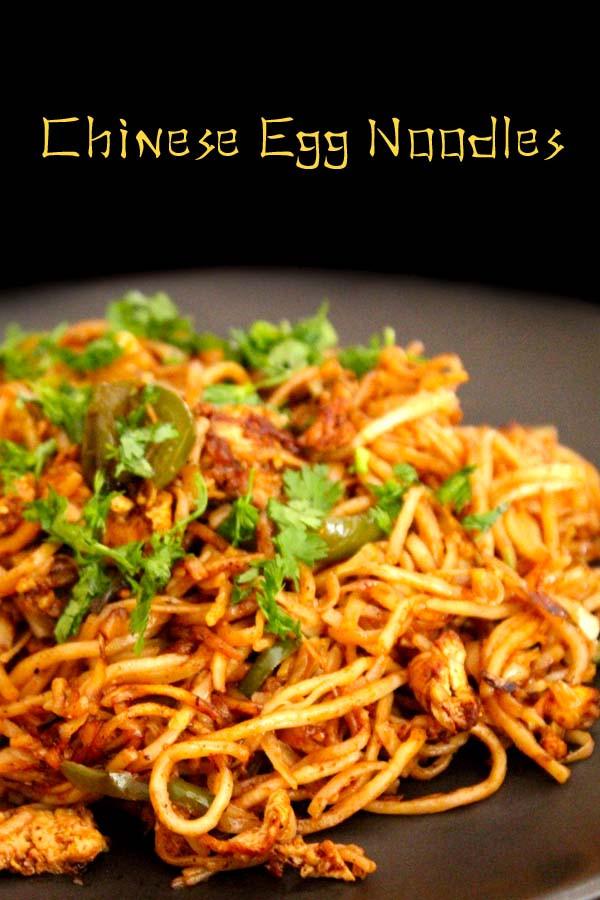 Chinese Egg Noodles Recipe  Chinese egg noodles street food చైనీస్ ఎగ్ నూడుల్స్