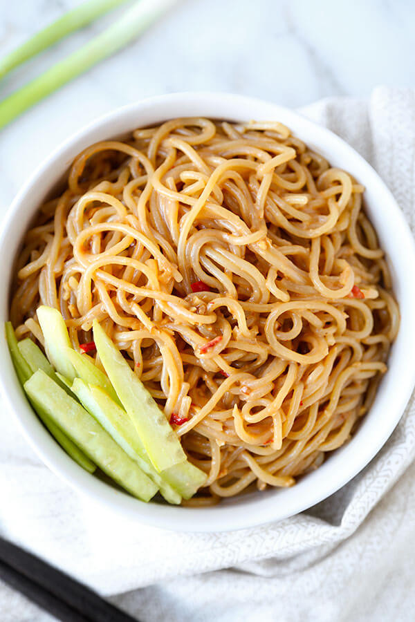 Chinese Egg Noodles Recipe  Chilled Sesame Noodles Recipe Pickled Plum Food And Drinks