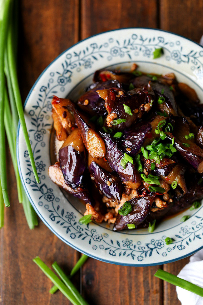 Chinese Eggplant Recipes  Chinese Eggplants with Minced Pork