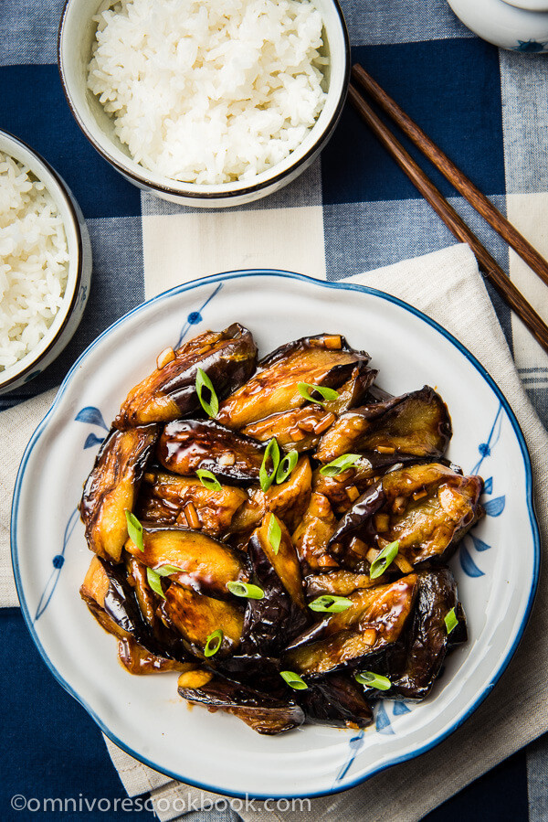 Chinese Eggplant Recipes  Chinese Eggplant with Garlic Sauce 红烧茄子