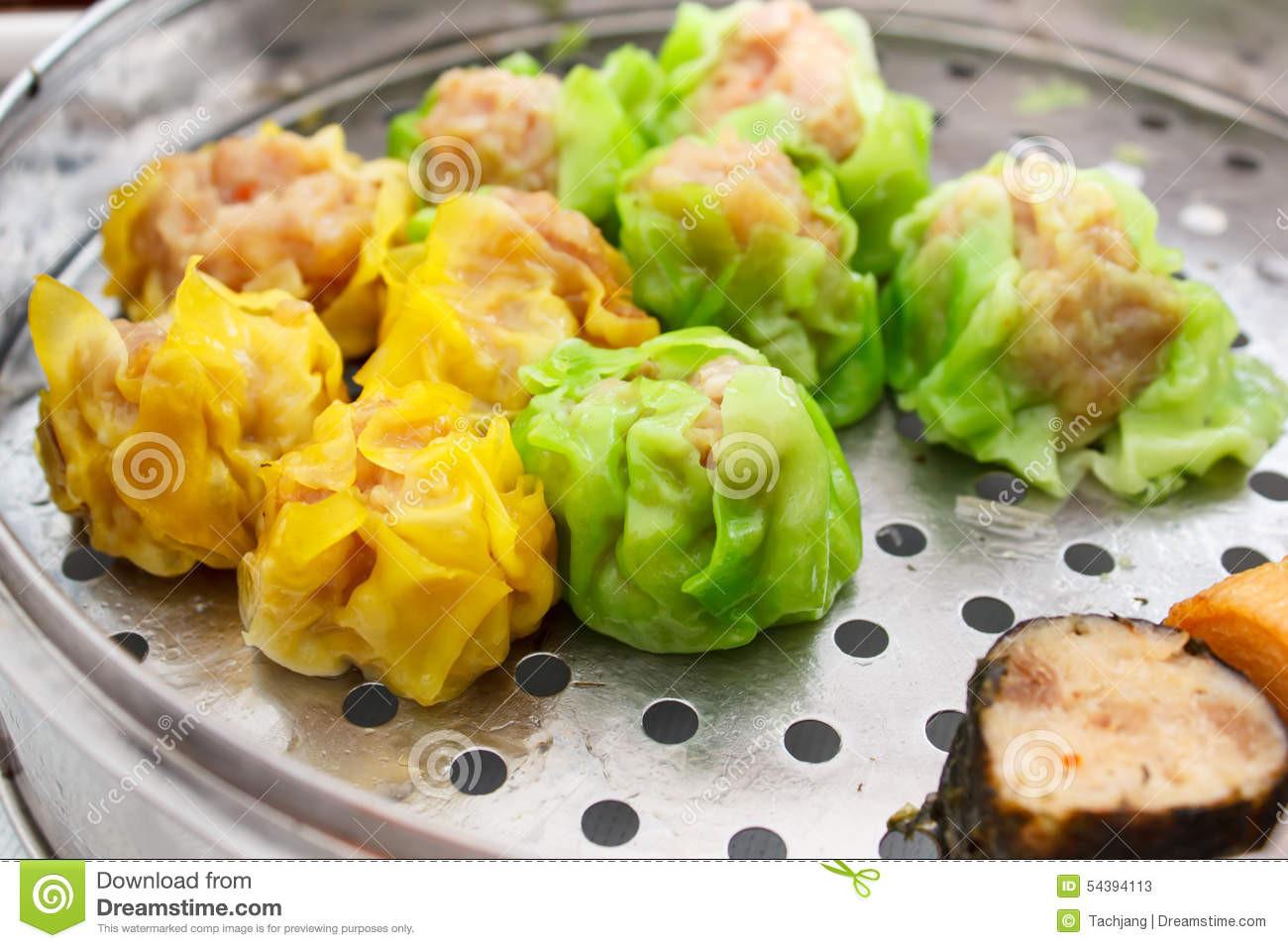 Chinese Food Appetizers  Chinese Food Appetizer Mixed Dim Sum Stock Image Image