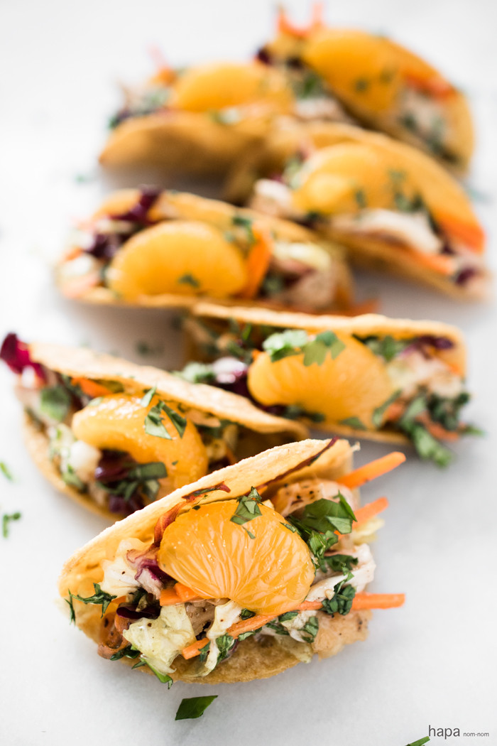 Chinese Food Appetizers  Chinese Chicken Salad Mini Tacos