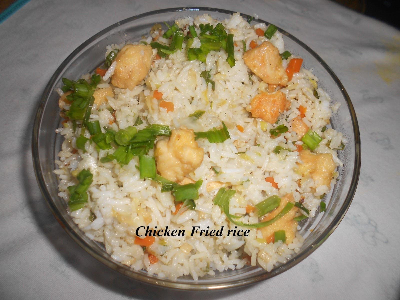 Chinese Fried Chicken  Jiya s Delicacy Chicken fried rice