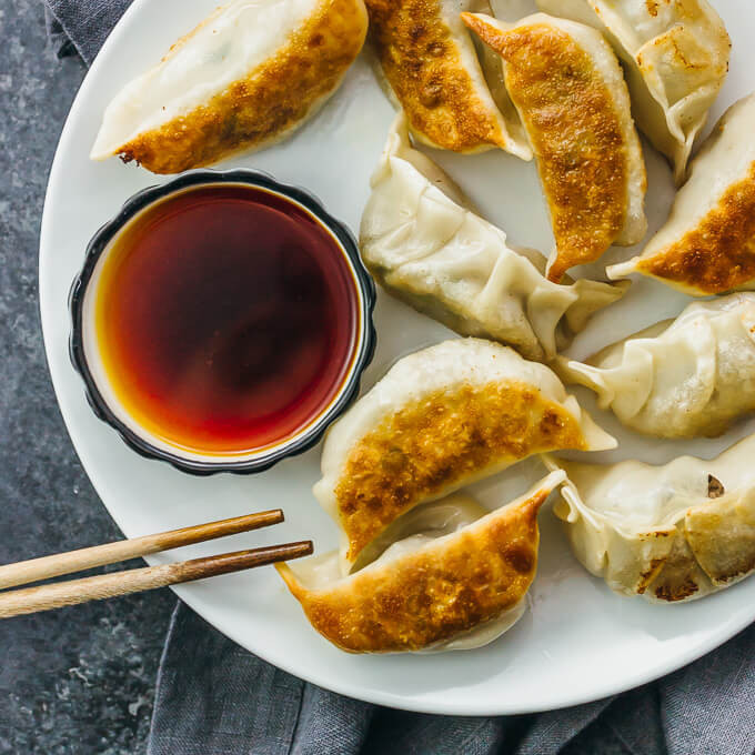 Chinese Fried Dumplings  Pan Fried Chinese Dumplings Recipe Savory Tooth