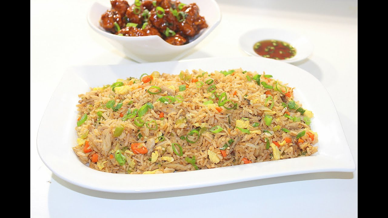 Chinese Fried Rice Restaurant Style  Indo Chinese Chicken Fried Rice Restaurant style by