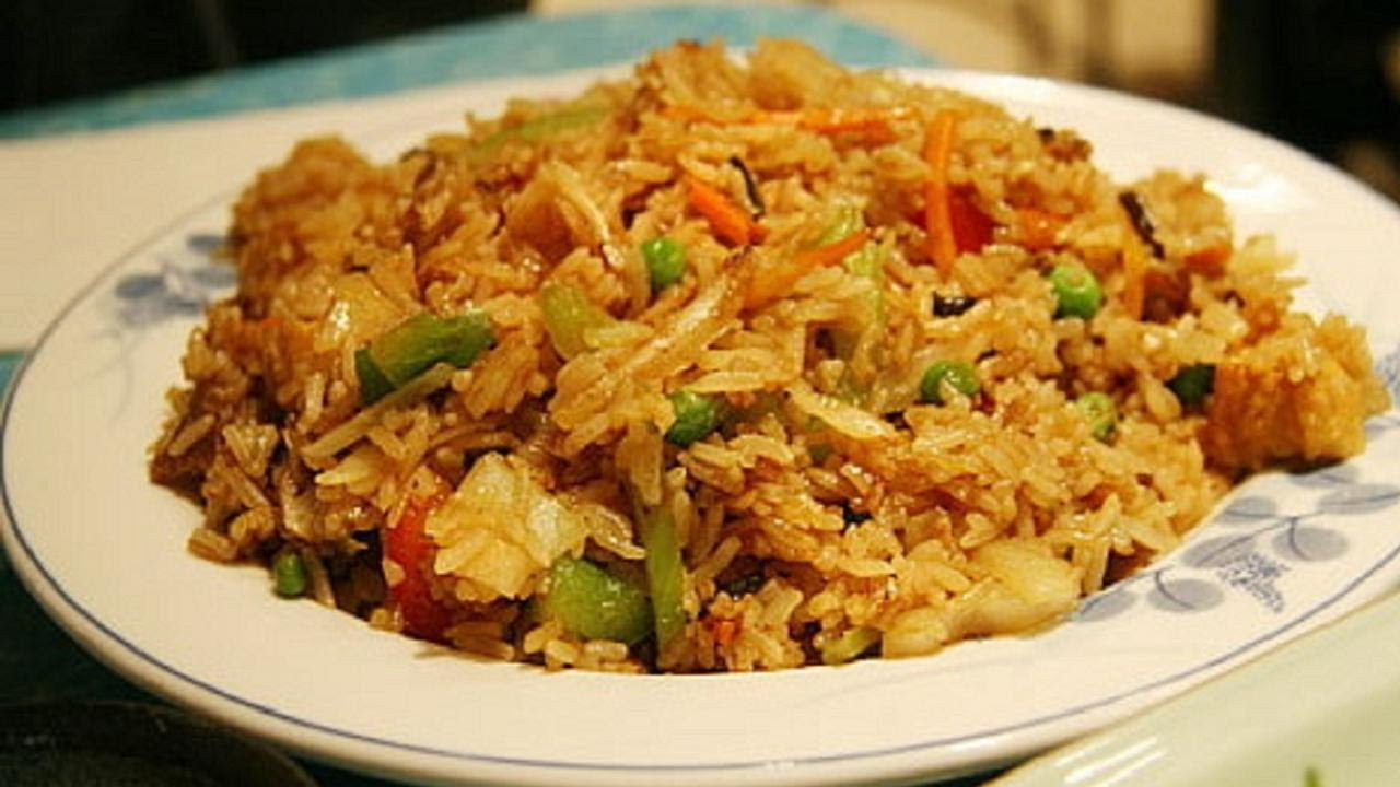 Chinese Fried Rice Restaurant Style  Indo Chinese Ve able Fried Rice Fusion