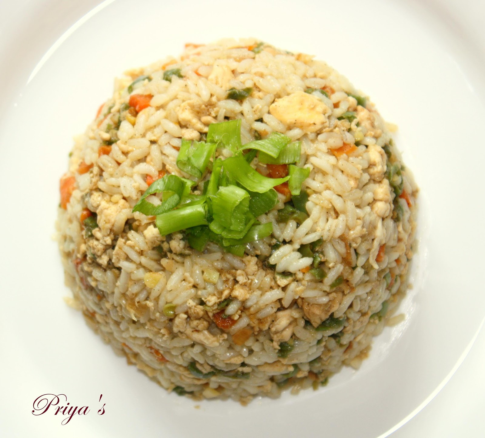 Chinese Fried Rice Restaurant Style  Cook like Priya Chinese Chicken Fried Rice