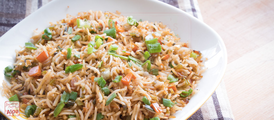 Chinese Fried Rice Restaurant Style  Veg Fried Rice Restaurant Style Something s Cooking with