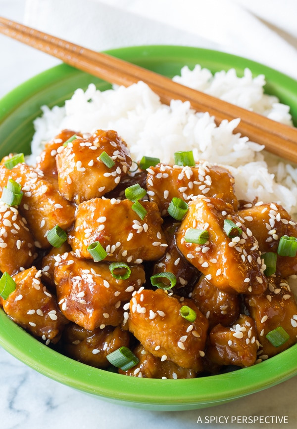 Chinese Instant Pot Recipes  Instant Pot Chinese Sesame Chicken Video A Spicy
