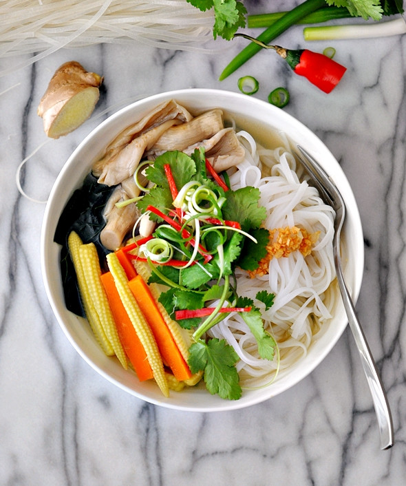 Chinese Noodle Soups Recipes  Under The Weather Ve ables & Mushroom Noodle Soup Recipe