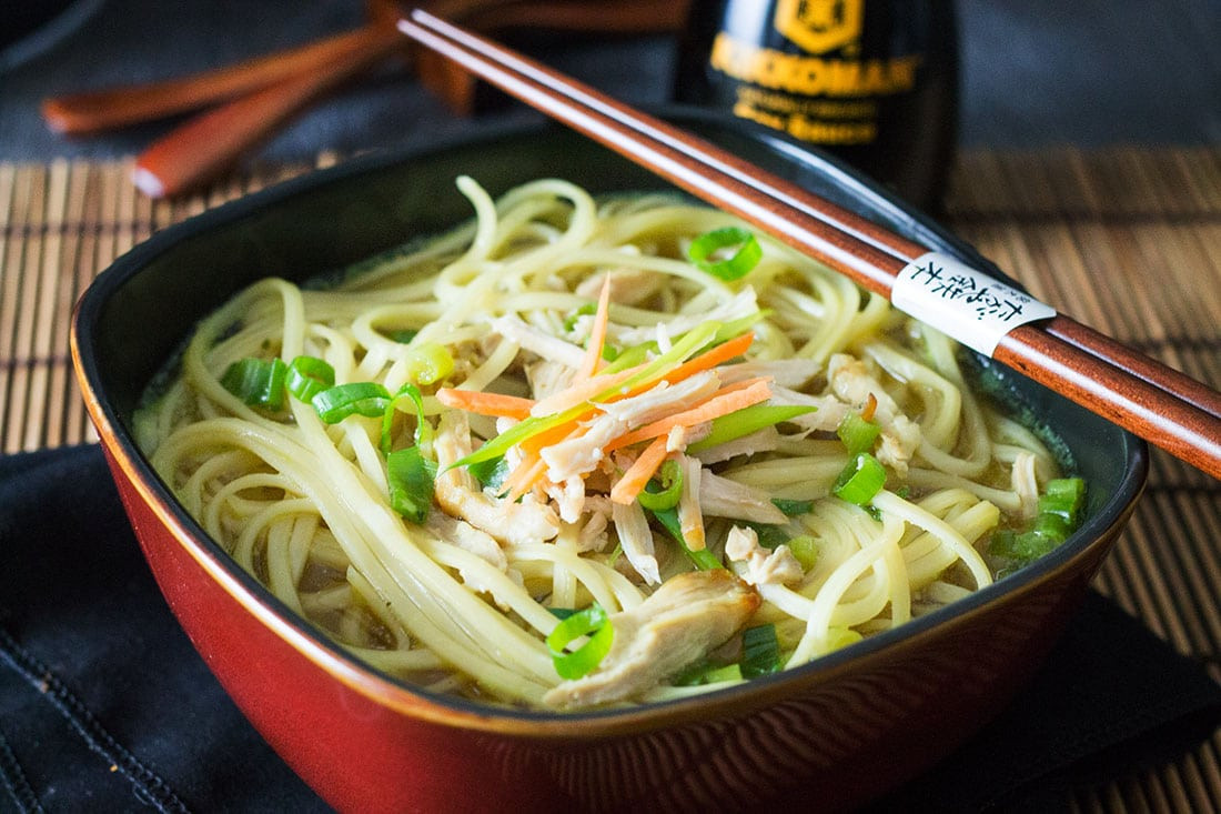 Chinese Noodle Soups Recipes  Quick & Easy Chinese Chicken Noodle Soup Erren s Kitchen
